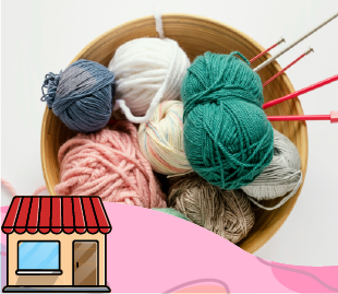 Venta de lanas, hilos, crochet