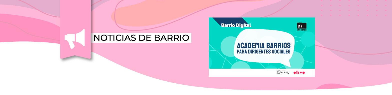 ¡Sé parte de Academia Barrios! Para Dirigentes/as de La Quebrada