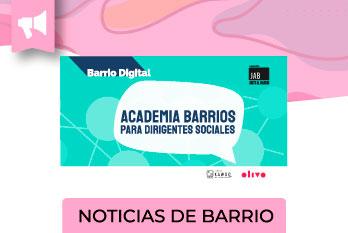 Este lunes 26 de julio, se inicia la Academia para Dirigentes/as del barrio La Quebrada, una plataforma e-learning que entregará 6 cursos.