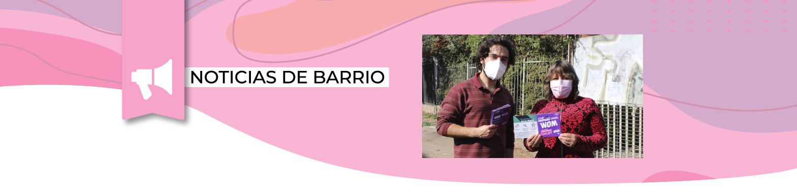 Junto al Barrio entrega chip a vecinos/as de La Quebrada