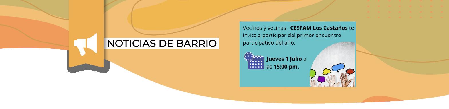 CESFAM Los Castaños, invita a encuentro participativo