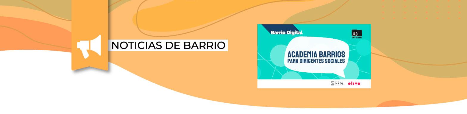 ¡Sé parte de Academia Barrios! Para Dirigentes/as de Villa Nuevo Amanecer