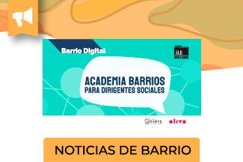 Este lunes 26 de julio, se inicia la Academia para Dirigentes/as de Villa Nuevo Amanecer, una plataforma e-learning que entregará 6 cursos.