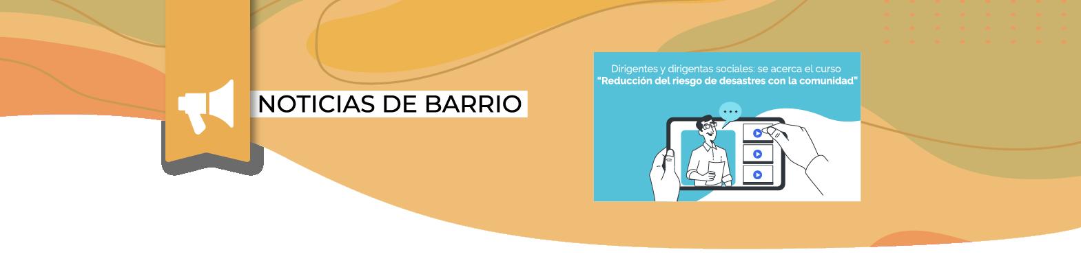 """¡Atención dirigentes y dirigentas!: Inscripciones abiertas para curso virtual """"Reducción del riesgo de desastres con la comunidad"""""""